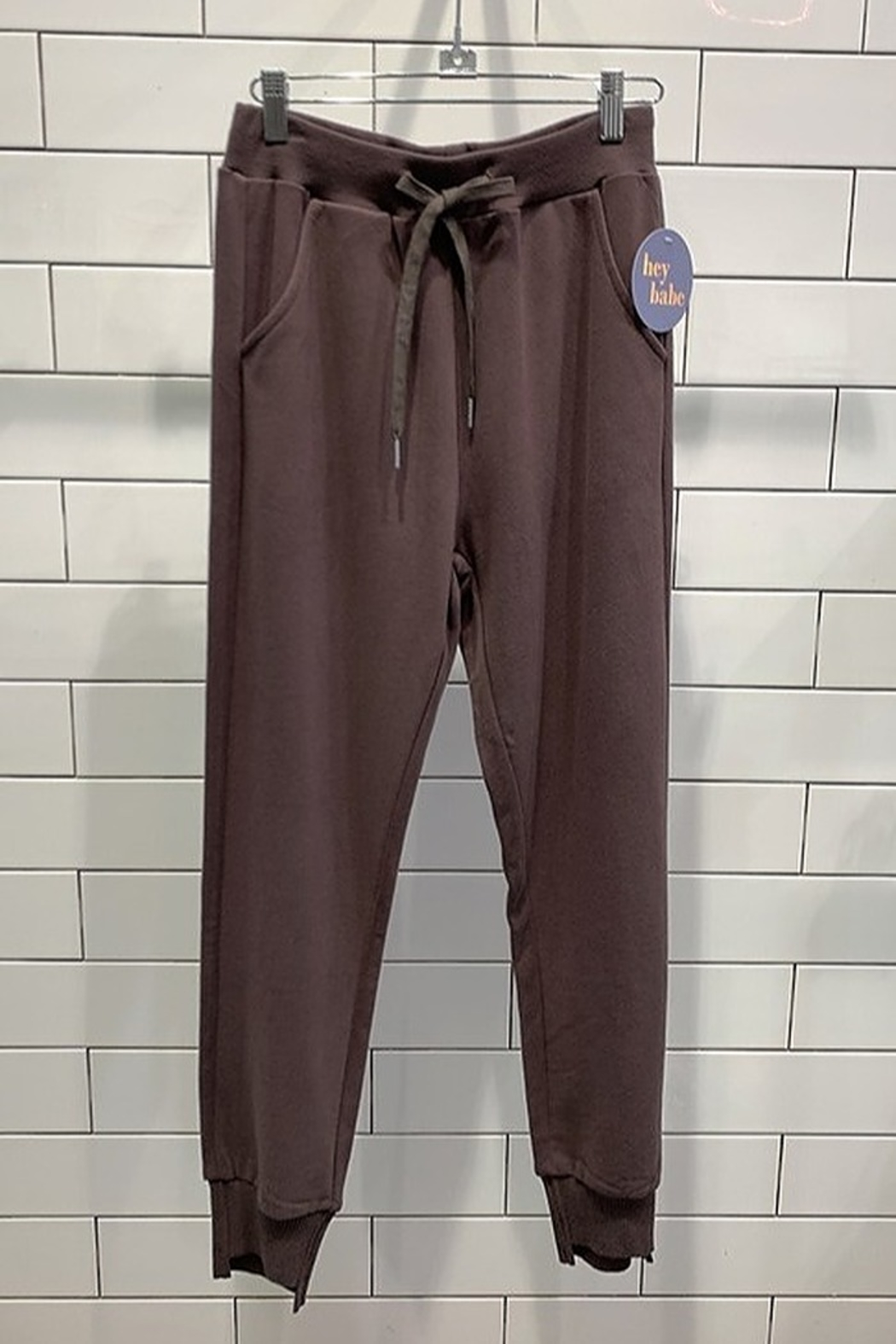 Hey Babe Lazy Days Joggers - Front Cropped Image