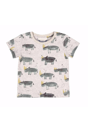 Paper Wings Lazy Days Rhino T Shirt - Front cropped