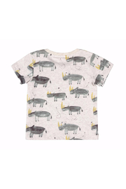 Paper Wings Lazy Days Rhino T Shirt - Front full body