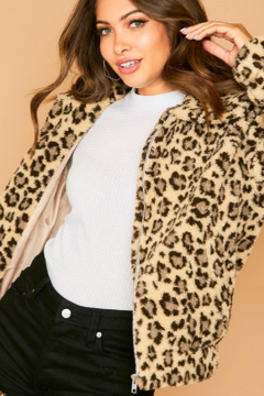 Fantastic Fawn  Lazy Leopard Bomber - Product List Image