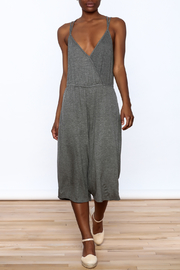 Lazy Sundays Grey Errand Midi Jumpsuit - Product Mini Image