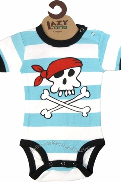 Lazy One Blue Pirate Onesie - Alternate List Image