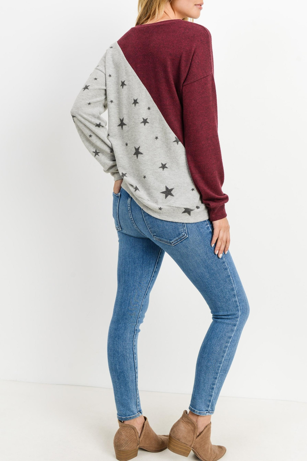 Lazy Sundays Color-Block Star Top - Front Full Image