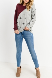 Lazy Sundays Color-Block Star Top - Front cropped