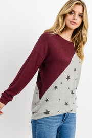 Lazy Sundays Color-Block Star Top - Back cropped