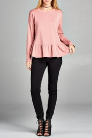 Lazy Sundays Peplum Pullover - Front cropped
