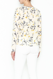 Le Lis Floral Front Tie Top - Back cropped