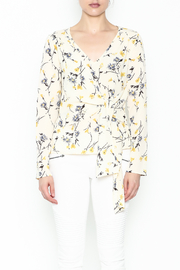 Le Lis Floral Front Tie Top - Front full body