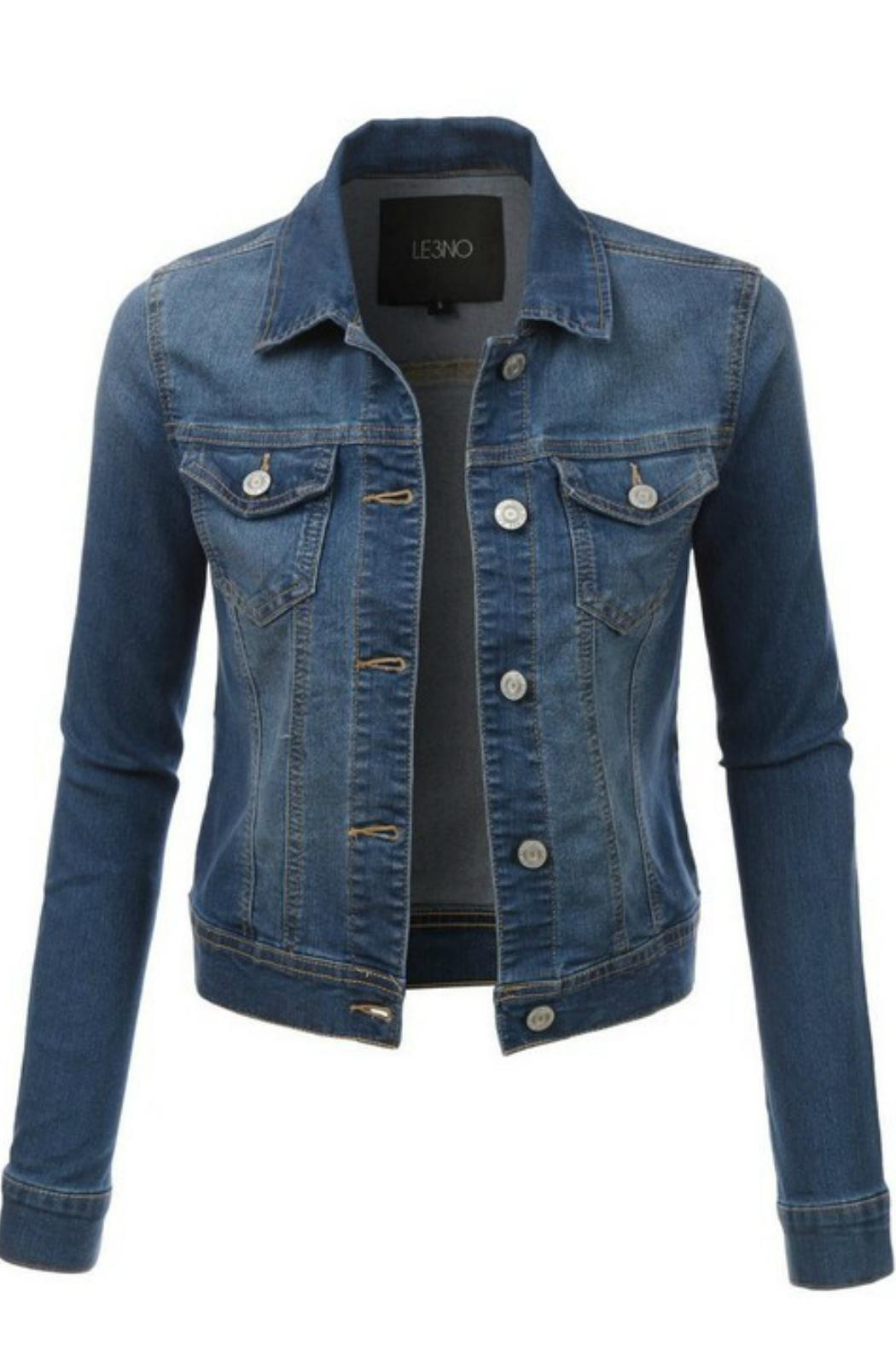 Le3no Short Jean Jacket From North Carolina By Lucky Lucy