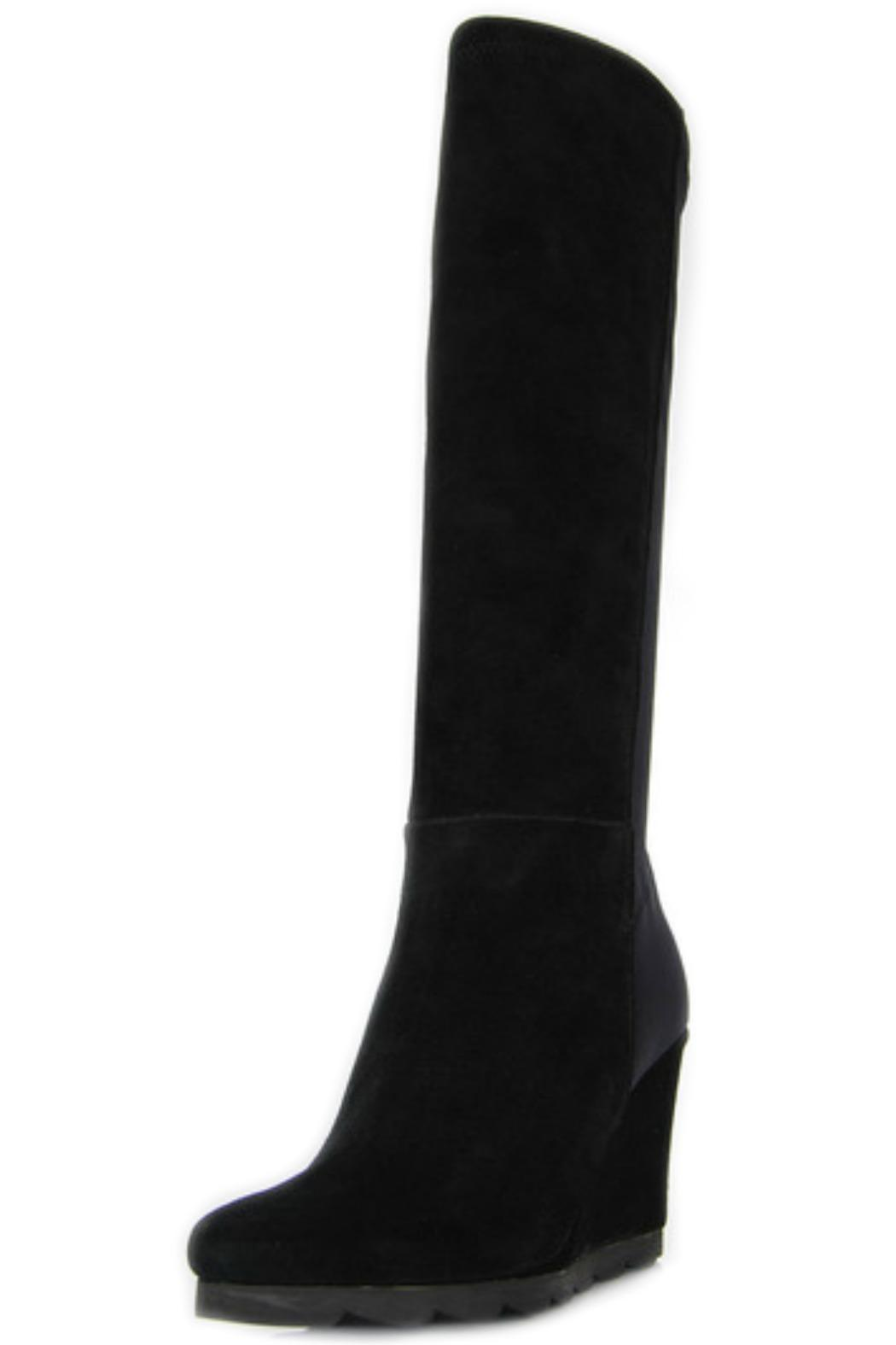 Le Babe  Black Wedge Boot - Front Full Image