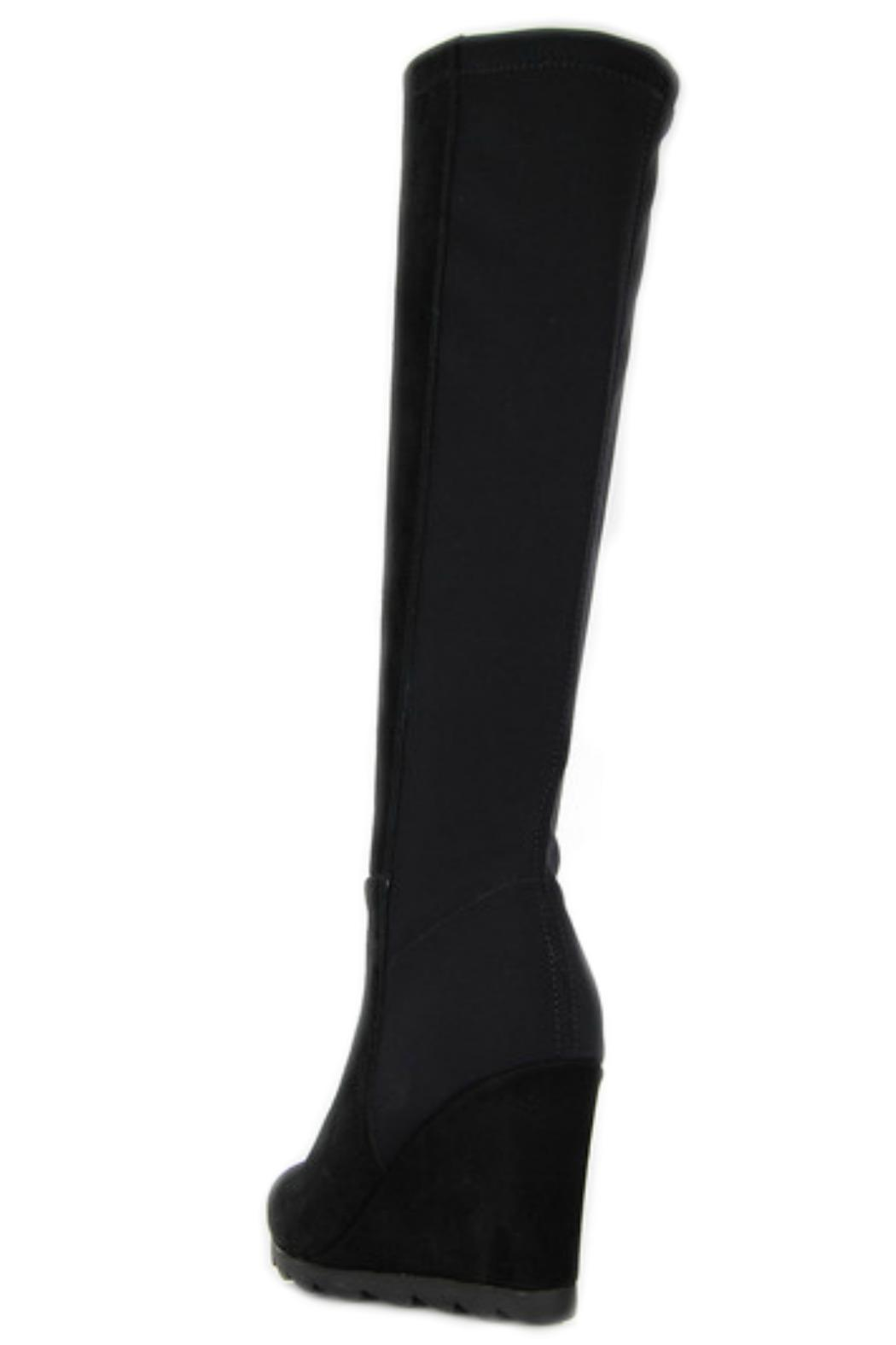 Le Babe  Black Wedge Boot - Side Cropped Image
