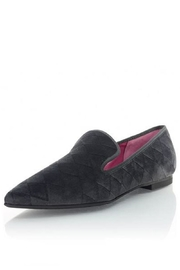 Le Babe  Pointed Velvet Flat - Front cropped
