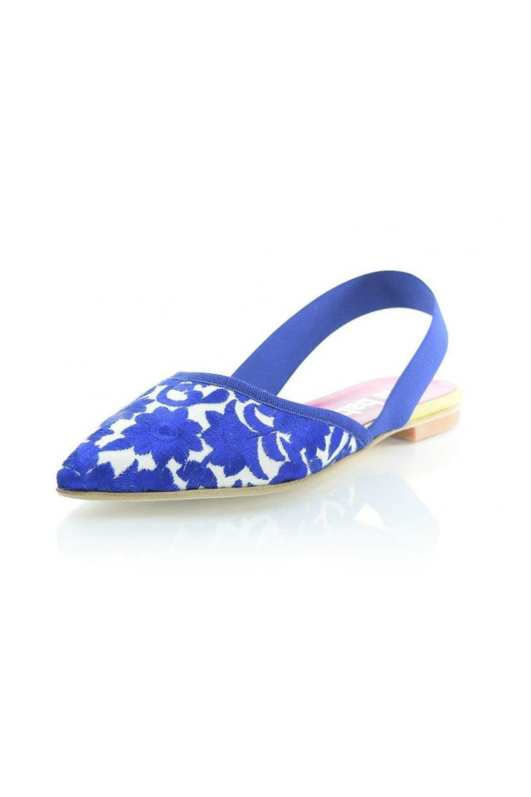Le Babe  Floral Pointed-Toe Flat - Main Image