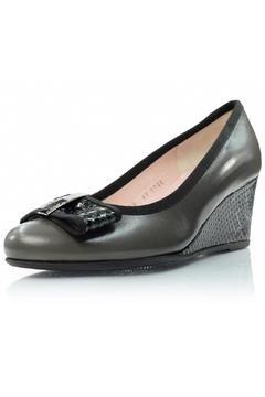 Shoptiques Product: Grey Leather Wedge