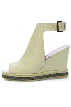 Shoptiques Product: Nude Leather Wedge
