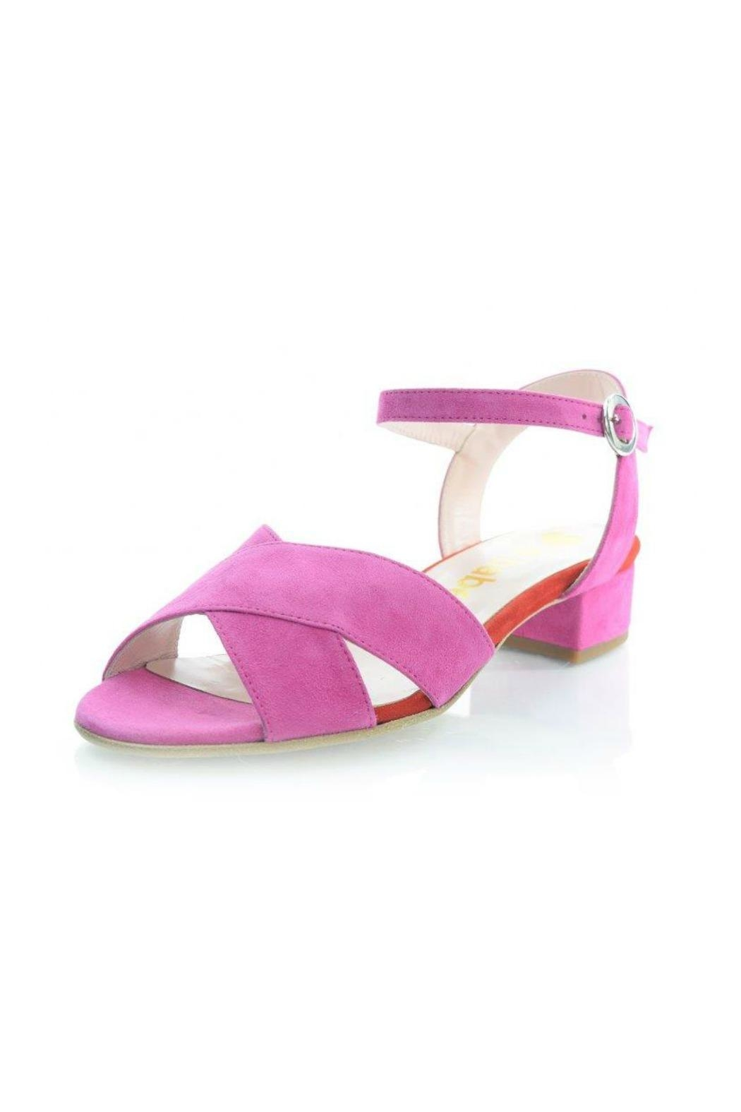 Le Babe  Pink Suede Sandal - Main Image