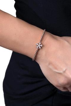 Shoptiques Product: Thin Flower Bracelet