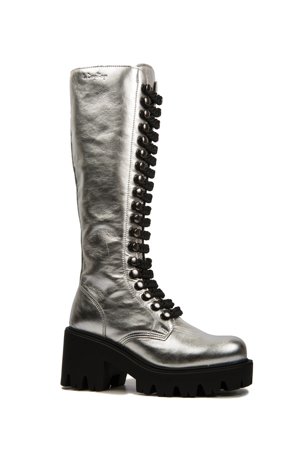 Le DangeRouge Inessa Silver Boots - Back Cropped Image