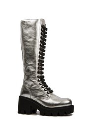 Le DangeRouge Inessa Silver Boots - Back cropped