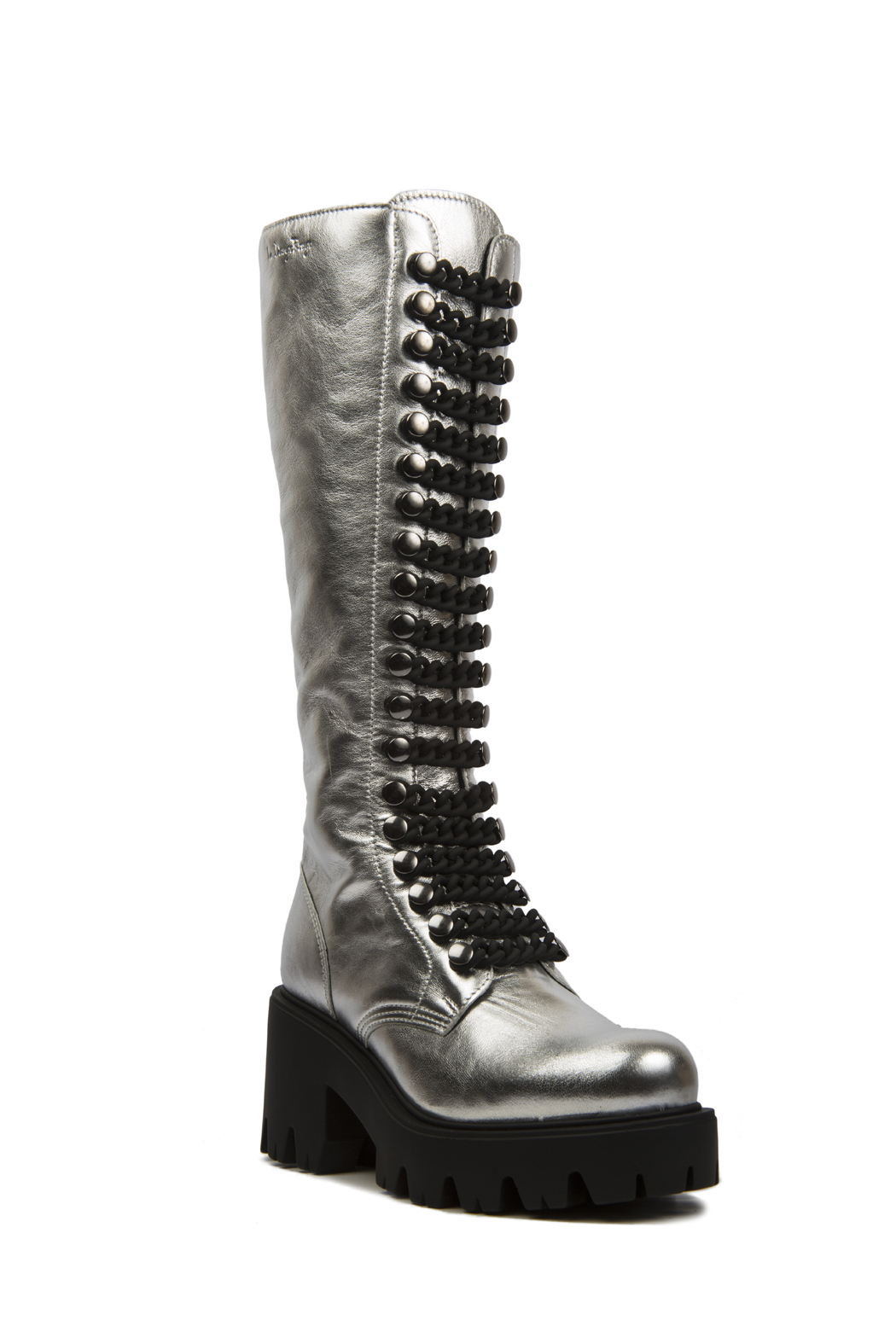 Le DangeRouge Inessa Silver Boots - Front Cropped Image