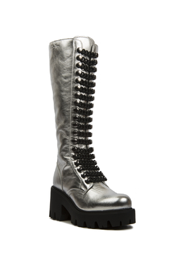 Le DangeRouge Inessa Silver Boots - Product List Image