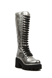 Le DangeRouge Inessa Silver Boots - Front cropped