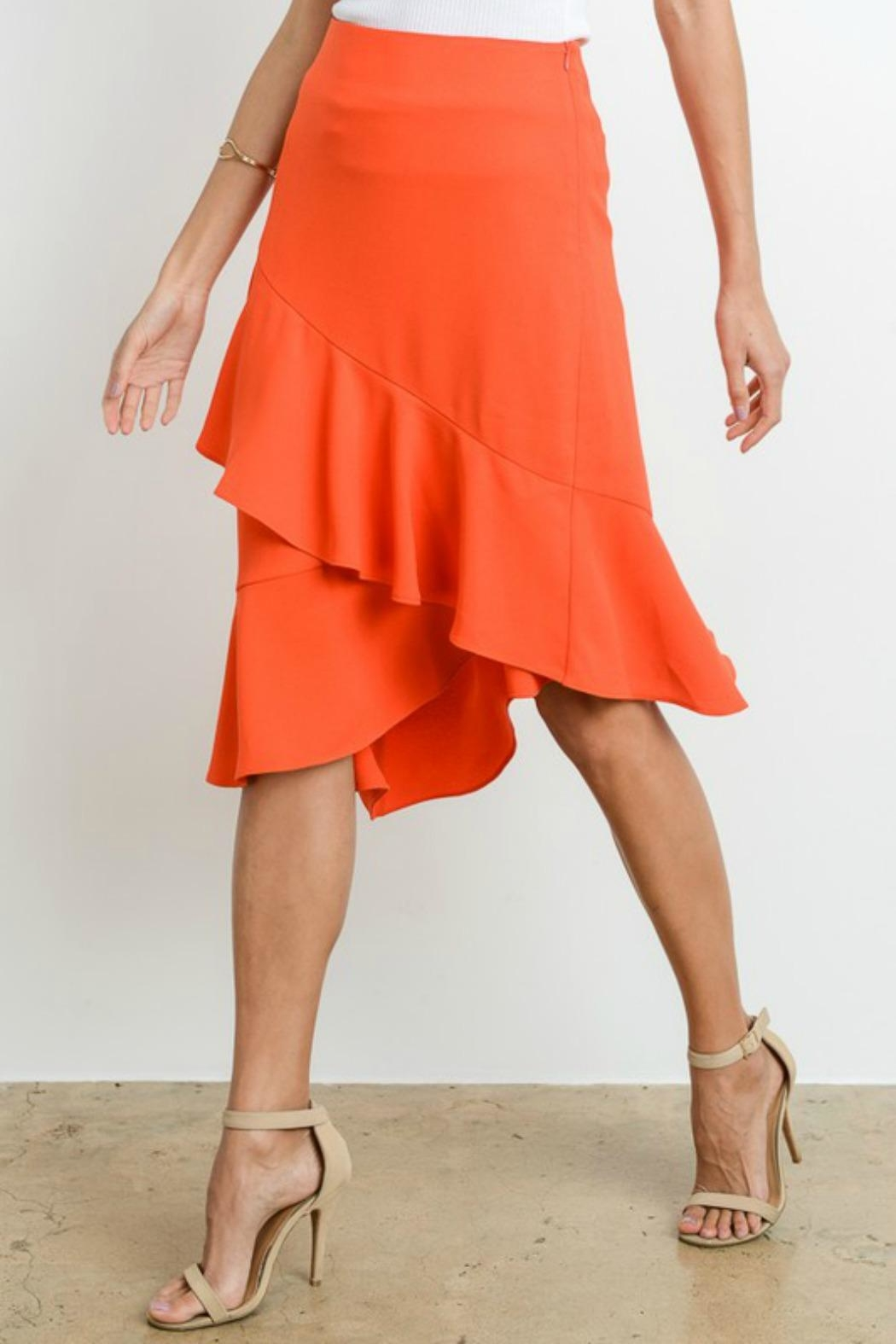Le Lis Asymmetrical Layered Skirt - Side Cropped Image