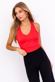 Le Lis Back Criss Cross Top - Front cropped