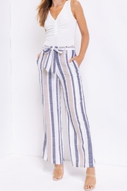 Le Lis Belted Stripe Pant - Product Mini Image