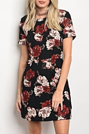 Le Lis Black Floral Dress - Product Mini Image