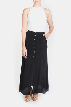 Le Lis Black Maxi Skirt - Product List Image