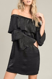 Le Lis Black Ruffled Dress - Product Mini Image