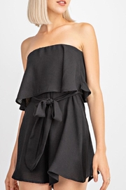 Le Lis Black Swing Romper - Front cropped