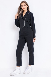 Le Lis Black Utility Jumpsuit - Product Mini Image