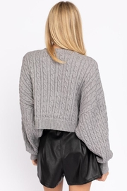 Le Lis Cable Knit Sweater - Back cropped