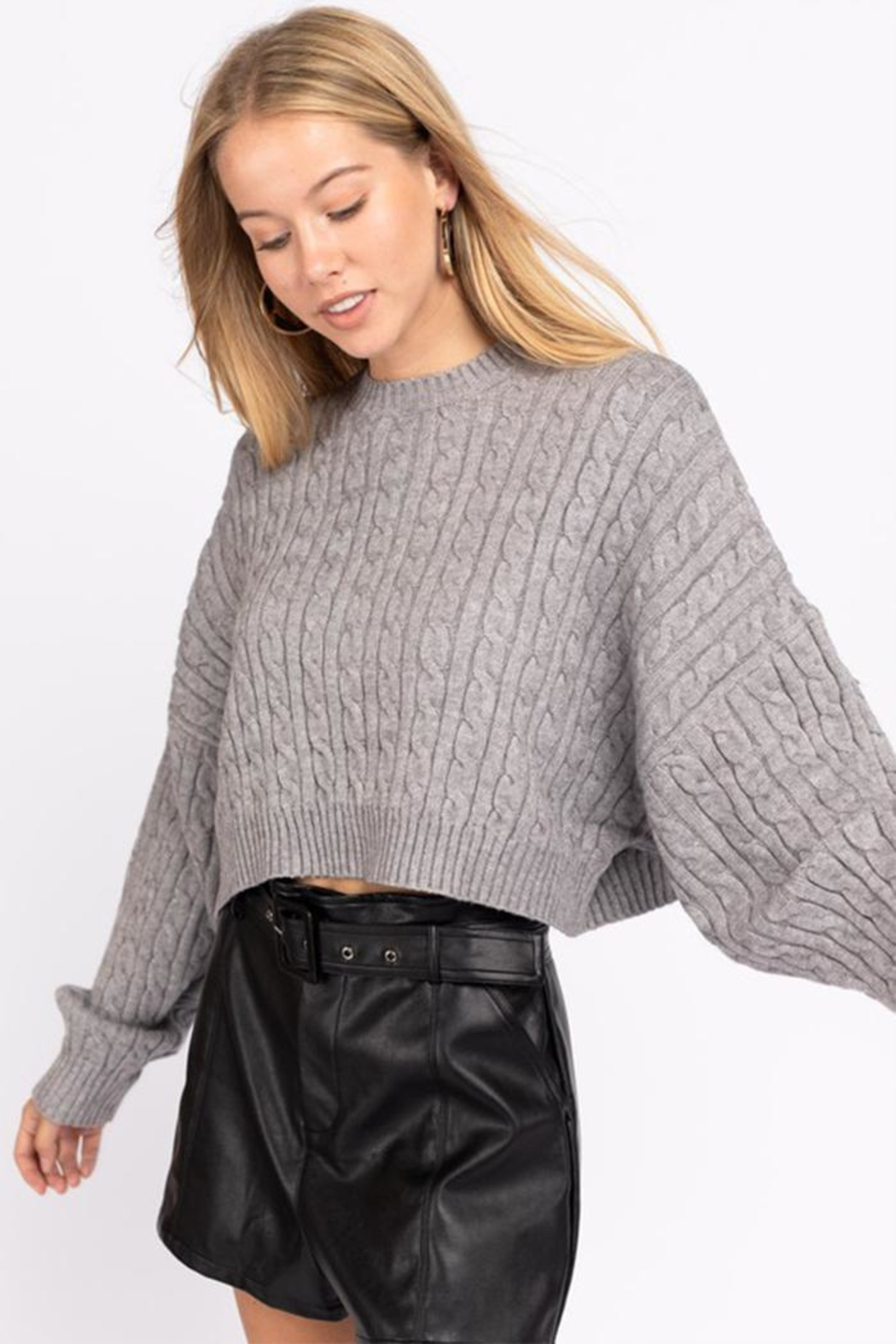 Le Lis Cable Knit Sweater - Main Image