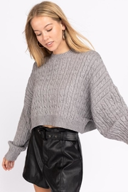 Le Lis Cable Knit Sweater - Front cropped