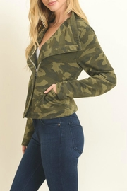 Le Lis Camo Print Jacket - Front full body