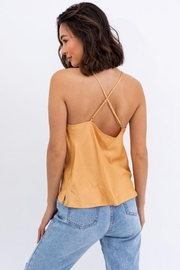 Le Lis Champagne Satin Top - Other