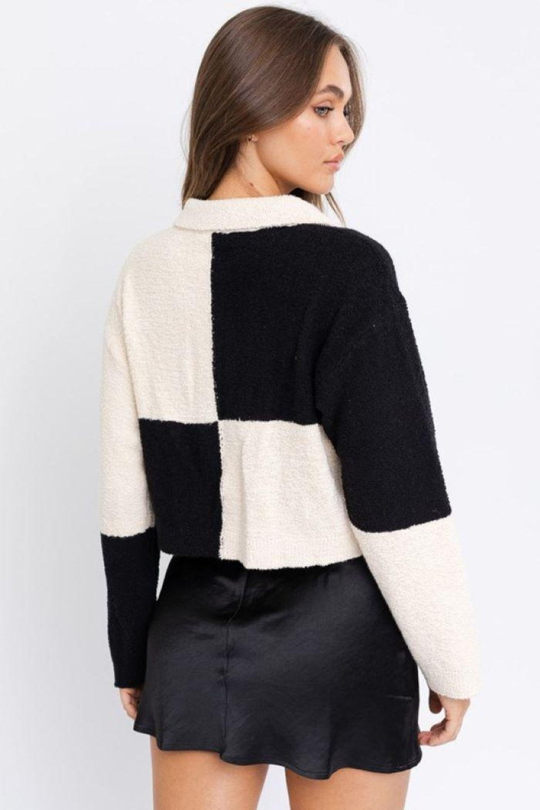 Le Lis Color Block Collared Jacket - Side Cropped Image