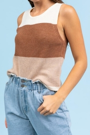 Le Lis Color-Block Sweater Tank - Front cropped