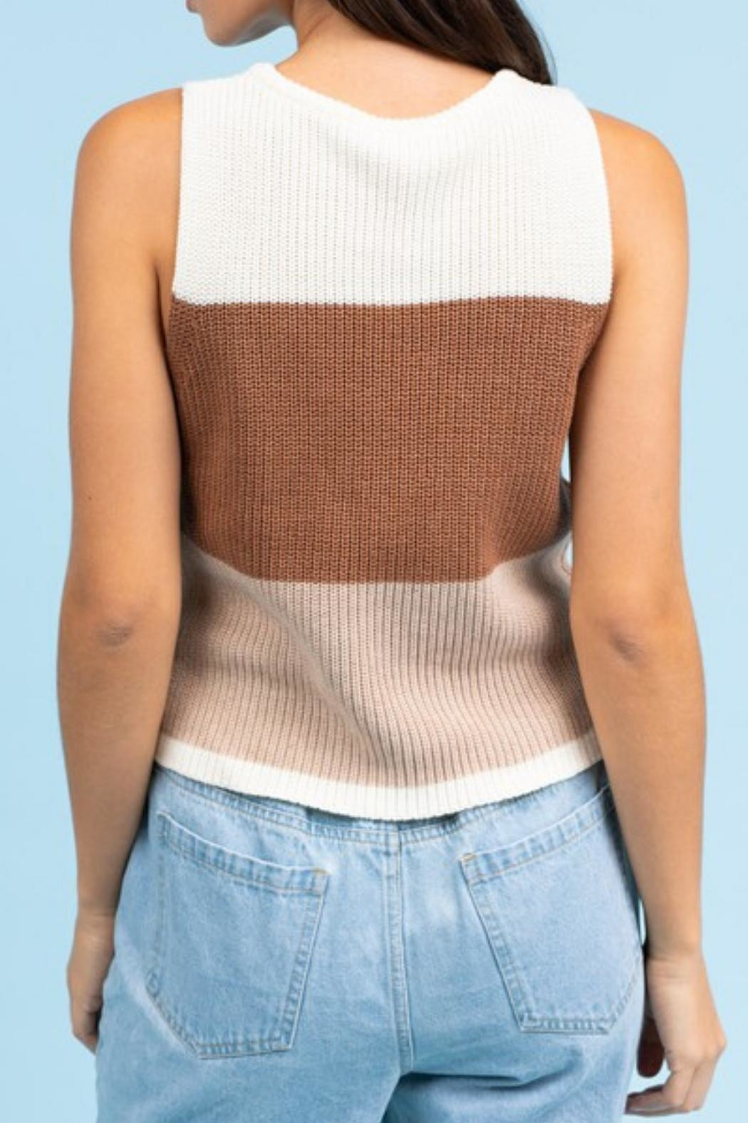 Le Lis Color-Block Sweater Tank - Side Cropped Image