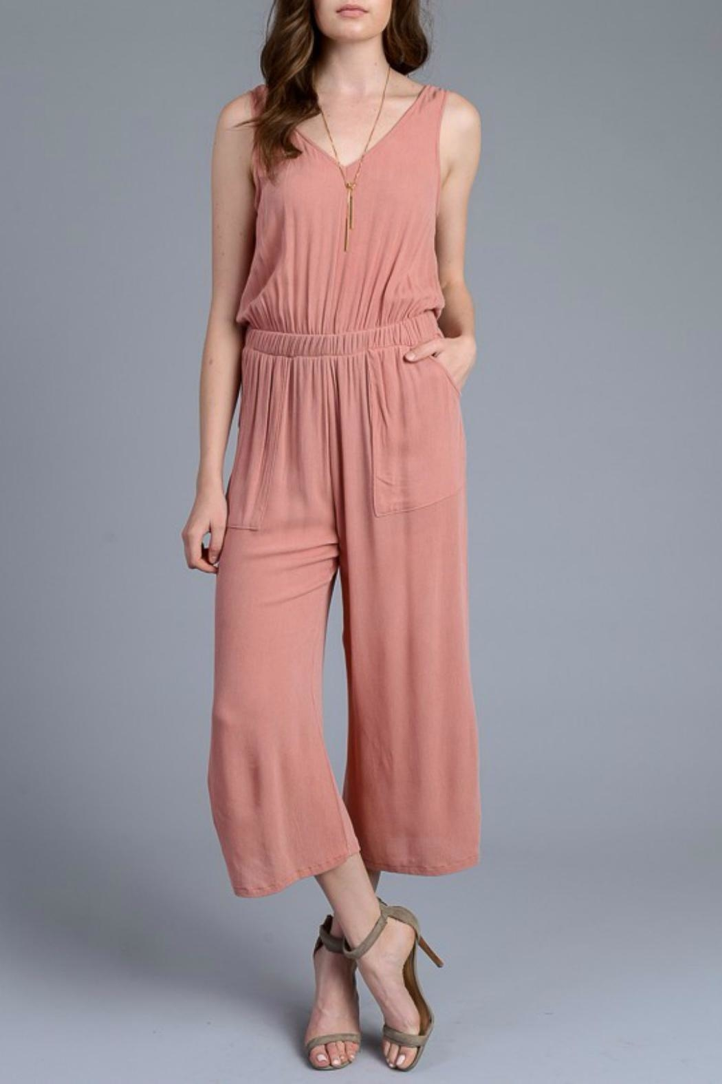 Le Lis Cropped Jumpsuit - Front Full Image