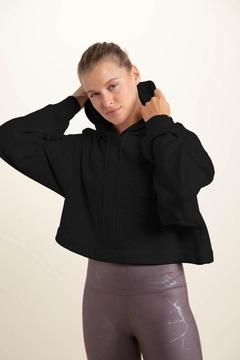 Le Lis Cropped Long-Sleeve Hoodie Top - Product List Image