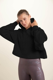 Le Lis Cropped Long-Sleeve Hoodie Top - Front cropped