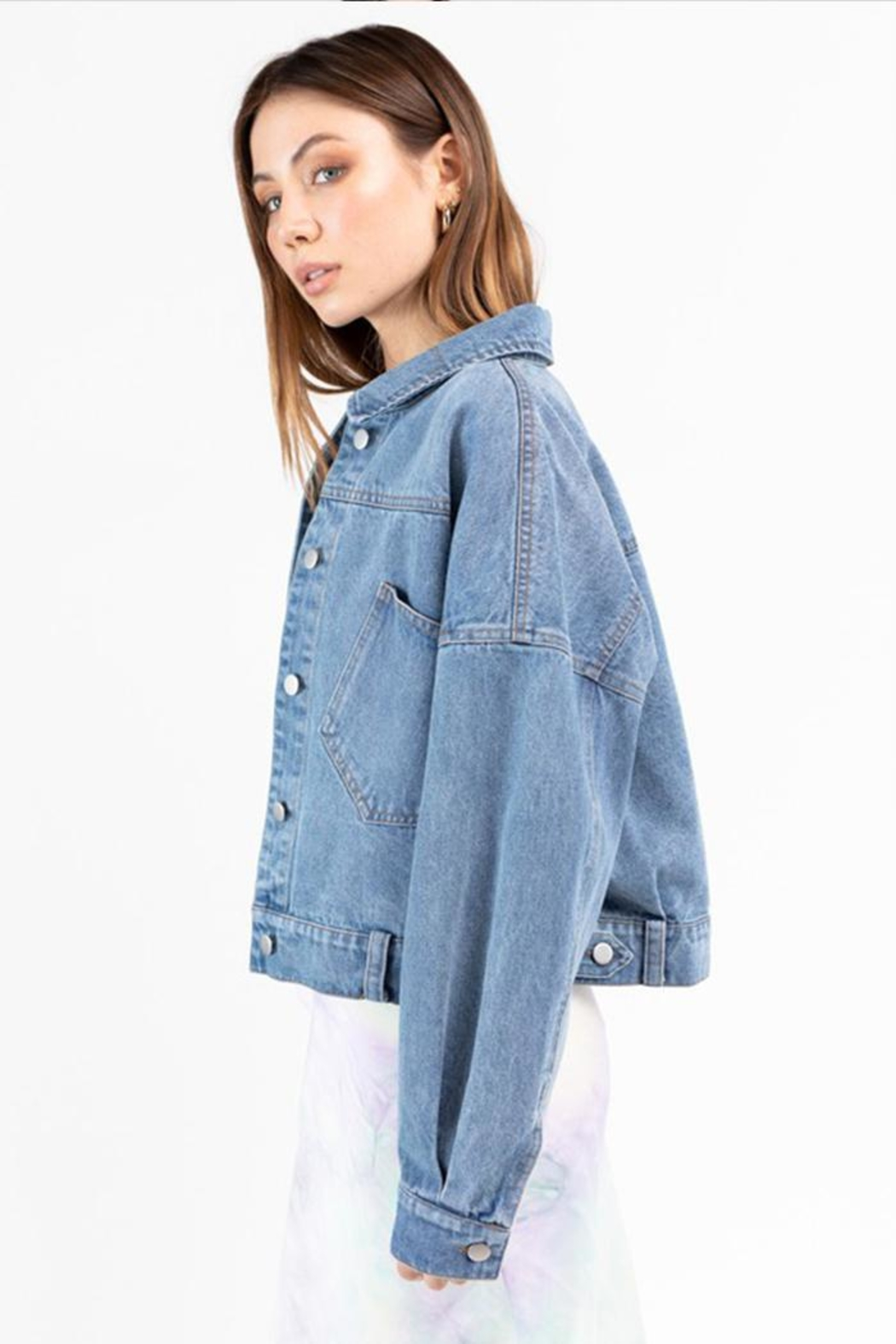 Le Lis Denim Jacket - Side Cropped Image
