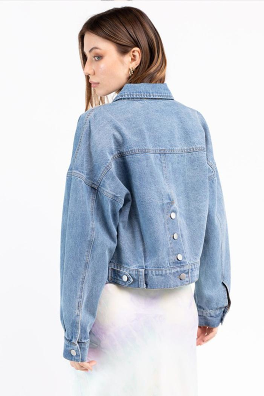 Le Lis Denim Jacket - Back Cropped Image