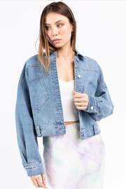 Le Lis Denim Jacket - Front full body
