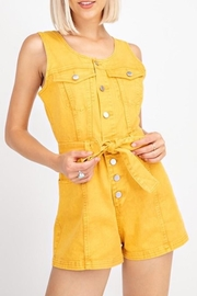 Le Lis Denim Romper - Product Mini Image