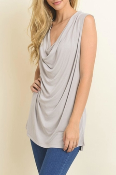 Le Lis Draped Soft Tank Top - Product List Image